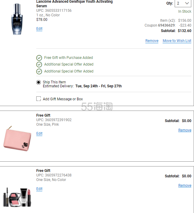 BELK:Lancome 兰蔻全线美妆护肤 8.5折+满额赠礼价值高达8 - 海淘优惠海淘折扣|55海淘网