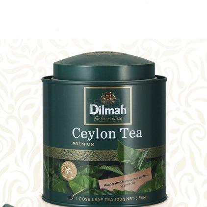 【返利3.6%】Dilmah 迪尔玛 锡兰红茶叶 100g 送欧式茶漏