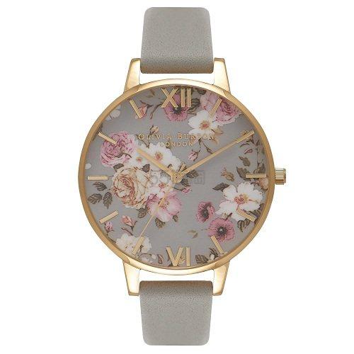 Olivia Burton 灰色花卉女士气质腕表 OB16FS81 £40(约354元) - 海淘优惠海淘折扣|55海淘网