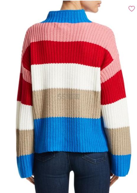 Scripted 彩色撞色条纹毛衣 .99(约370元) - 海淘优惠海淘折扣|55海淘网