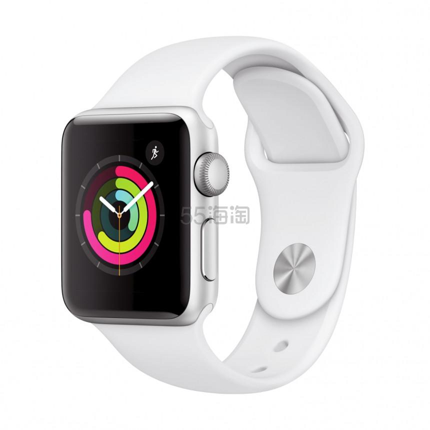 银色/黑色好价!Apple Watch Series 3 苹果手表 GPS版 38mm 铝合金运动款 9(约1,415元) - 海淘优惠海淘折扣 55海淘网