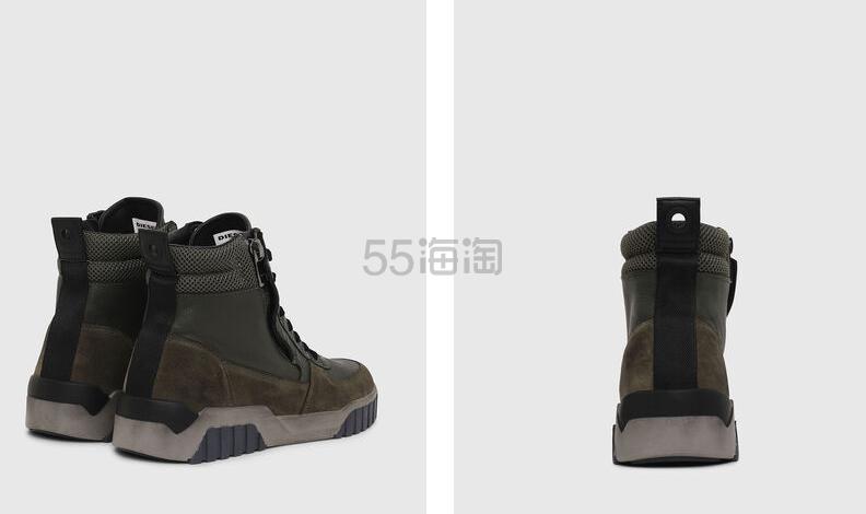 Diesel 男士高帮拉链装饰休闲鞋 8(约1,766元) - 海淘优惠海淘折扣 55海淘网