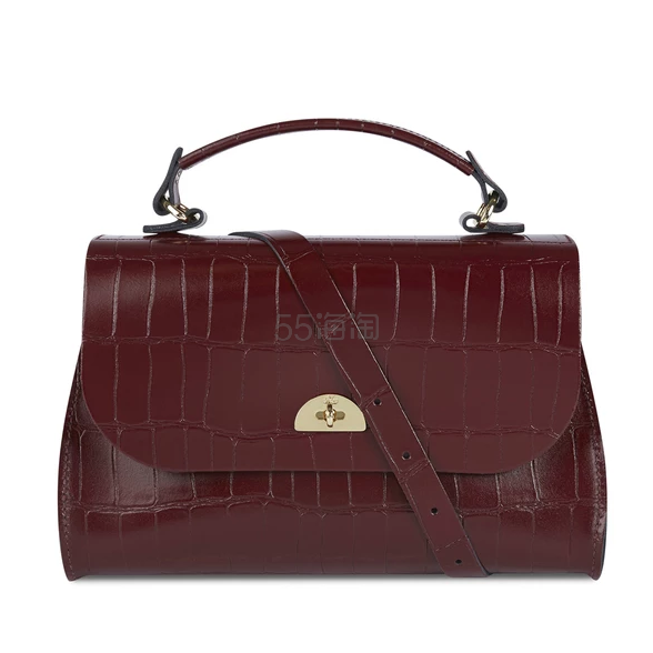 The Cambridge Satchel Company Daisy Bag in Leather 鳄鱼纹皮革手提包 £120(约1,047元) - 海淘优惠海淘折扣|55海淘网