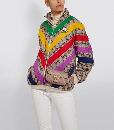 【澳门定价】Gucci Mini Marmont Matelassé 单肩包