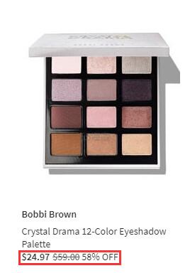 Bobbi Brown 芭比波朗限量 CRYSTAL DRAMA 12色眼影盘 .97(约177元) - 海淘优惠海淘折扣|55海淘网
