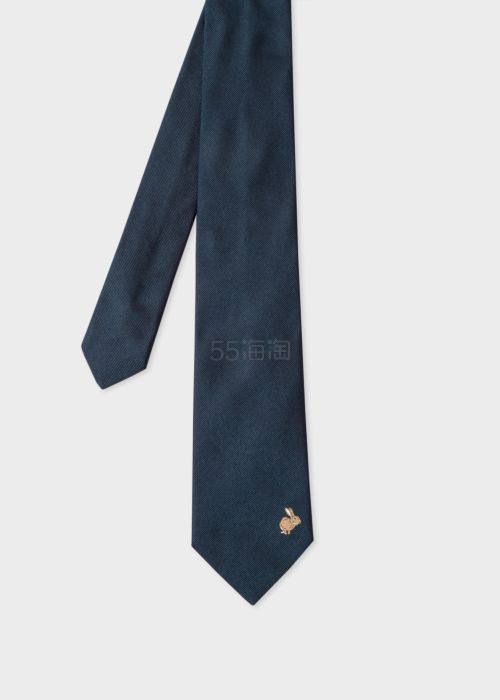 Paul Smith Rabbit Embroidered 兔子刺绣真丝领带 £100(约709元) - 海淘优惠海淘折扣|55海淘网