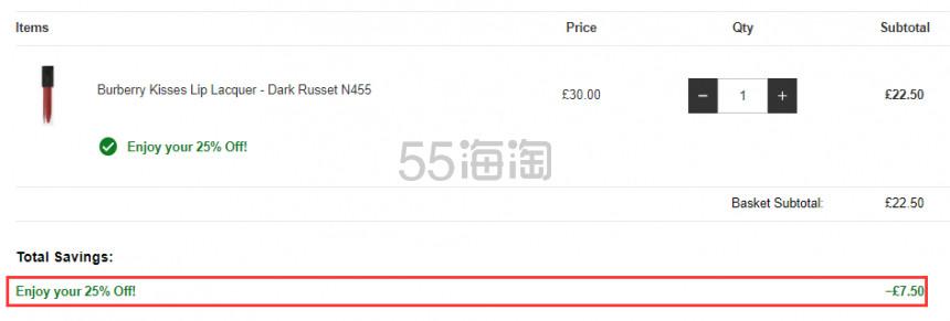 Burberry 巴宝莉 Matte Glow 新品柔雾粉底液 £26.26(约236元) - 海淘优惠海淘折扣 55海淘网