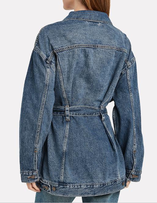 Levis 李维斯中长款腰带牛仔夹克 (约560元) - 海淘优惠海淘折扣|55海淘网