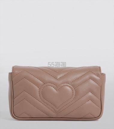 Gucci Super Mini Marmont 藕粉色 双G斜挎包 ¥5,221.34 - 海淘优惠海淘折扣|55海淘网
