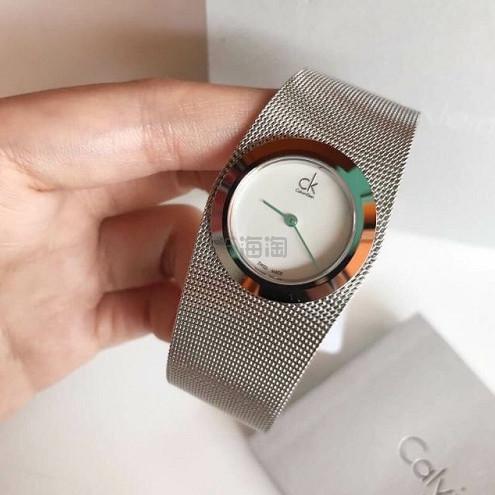 【55专享】近期低价!Calvin Klein 卡尔文·克雷恩 Impulsive 系列 银色女士时装腕表 K3T23126