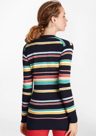Brooks Brothers 彩色条纹 V 领针织开衫 .25(约310元) - 海淘优惠海淘折扣|55海淘网