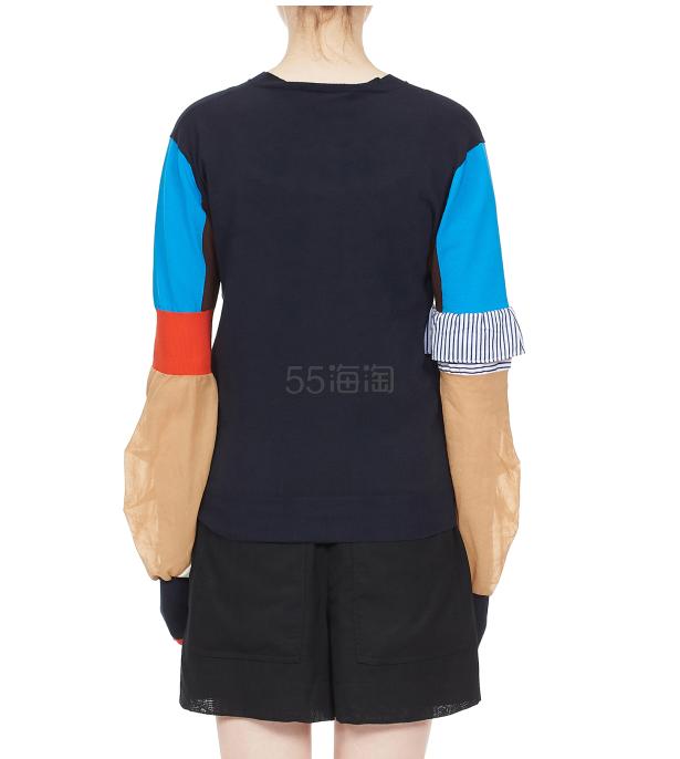 ENFOLD 拼色圓領針織衫 ¥1,889 - 海淘優惠海淘折扣|55海淘網