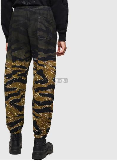 Diesel 男士老虎印花迷彩拼接休闲工装裤 8(约1,602元) - 海淘优惠海淘折扣|55海淘网