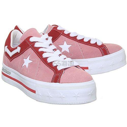 Converse 匡威 One Star 粉色番茄红厚底鞋 £30(约274元) - 海淘优惠海淘折扣|55海淘网