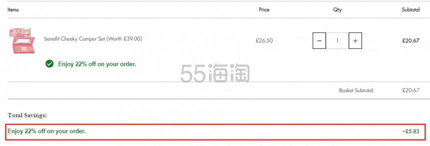 【55周年庆】Beauty Expert:Benefit 贝玲妃 彩妆产品 7.8折! - 海淘优惠海淘折扣|55海淘网