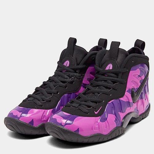 【额外7.5折】Nike Little Posite One 大童款篮球鞋 紫迷彩 5(约946元) - 海淘优惠海淘折扣|55海淘网