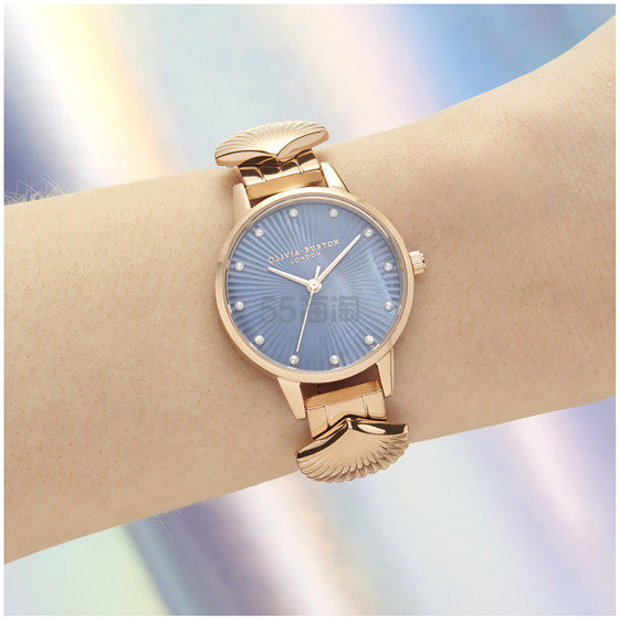 【一只免邮】Olivia Burton 贝壳玫瑰金女士手表