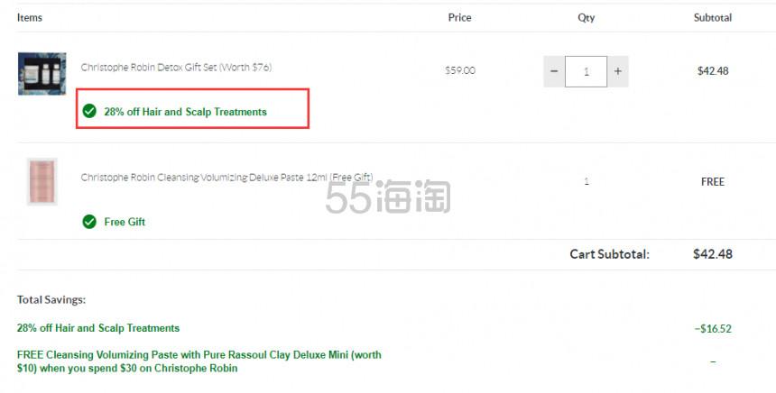 Christophe Robin 海盐头皮清洁洗护套组 价值 .48(约298元) - 海淘优惠海淘折扣|55海淘网