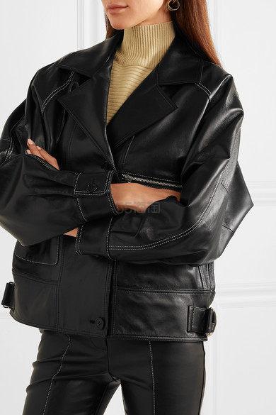 【NET-A-PORTER 独家发售】韩国独立设计师品牌 ANDERSSON BELL 大廓形皮革夹克 £895(约8,155元) - 海淘优惠海淘折扣|55海淘网