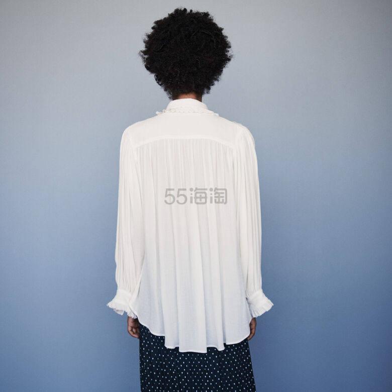 Maje 飘逸不规则后摆白衬衫上衣 8(约1,667元) - 海淘优惠海淘折扣|55海淘网