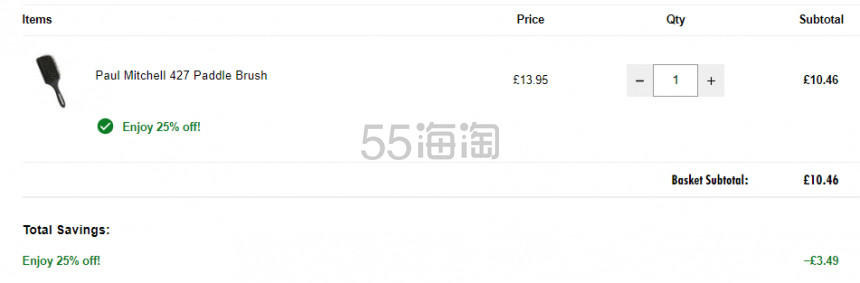 Paul Mitchell 宝美奇 427气垫按摩梳 £10.46(约95元) - 海淘优惠海淘折扣|55海淘网
