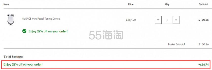 Nuface mini 家用提拉紧致美容仪 £130.26(约1,196元) - 海淘优惠海淘折扣 55海淘网