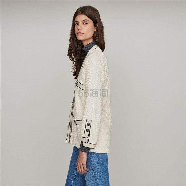 Maje 休闲纽扣装饰开衫外套 3(约2,400元) - 海淘优惠海淘折扣|55海淘网