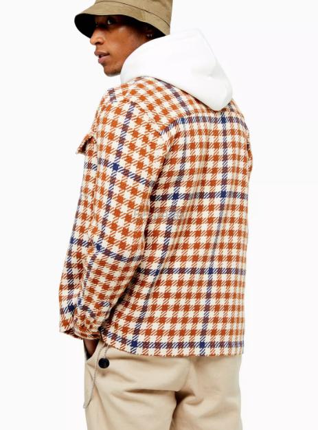 Topman 格纹男士休闲衬衫
