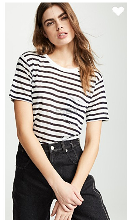 alexanderwang.t 经典条纹竹节纹针织 T 恤 (约585元) - 海淘优惠海淘折扣|55海淘网