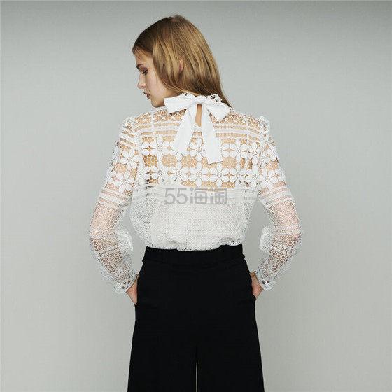 Maje 蕾丝镂空白上衣 6(约739元) - 海淘优惠海淘折扣|55海淘网