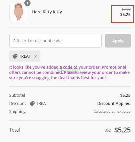 Colourpop 高光粉饼替换芯 here kitty kitty .25(约37元) - 海淘优惠海淘折扣|55海淘网