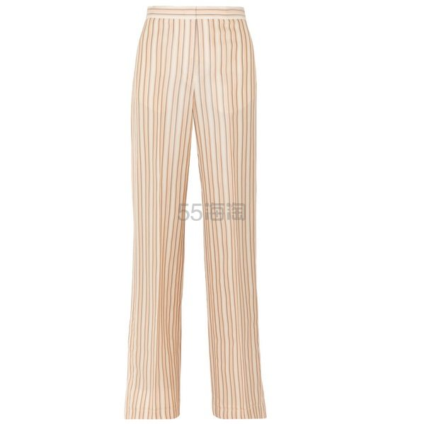 JIL SANDER 条纹缎布长裤 £624(约5,624元) - 海淘优惠海淘折扣|55海淘网