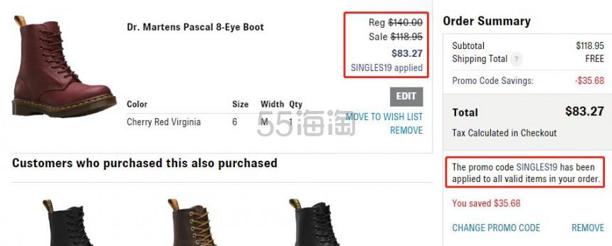 【双11】shoes.com:精选 Dr.Martens、Sam Edelman 等男女鞋履 额外7折 - 海淘优惠海淘折扣 55海淘网