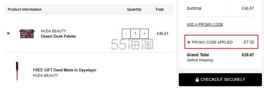 1件免费直邮中国+赠礼!Huda Beauty 沙漠18色眼影盘 £39.67(约358元) - 海淘优惠海淘折扣 55海淘网