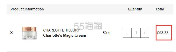 【干皮救星】可直邮!Charlotte Tilbury CT 魔法面霜 50ml £58.33(约525元) - 海淘优惠海淘折扣|55海淘网