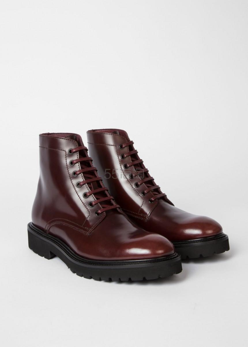 【双11】Paul Smith Farley 勃艮第红小牛皮皮靴 £331.5(约2,984元) - 海淘优惠海淘折扣|55海淘网