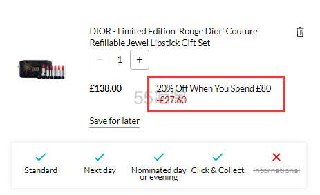 Dior 迪奥 2019圣诞限定唇膏套组 £110.4(约994元) - 海淘优惠海淘折扣 55海淘网