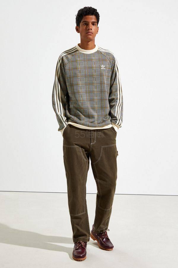 补货!adidas 阿迪达斯 Tartan Crew 格纹卫衣 (约515元) - 海淘优惠海淘折扣|55海淘网