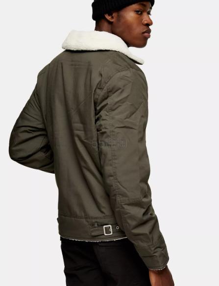 Schott 男士羊羔绒毛领夹克外套 £116(约1,045元) - 海淘优惠海淘折扣|55海淘网