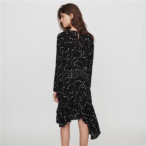 Maje 星星印花不规则下摆连衣裙 2(约2,308元) - 海淘优惠海淘折扣|55海淘网