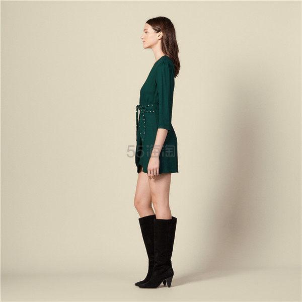 Sandro 优雅裹身腰带连衣裙 6.5(约1,918元) - 海淘优惠海淘折扣|55海淘网