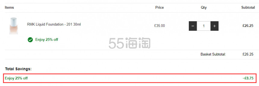 Lookfantastic:RMK 自然日系彩妆产品 7.5折! - 海淘优惠海淘折扣 55海淘网