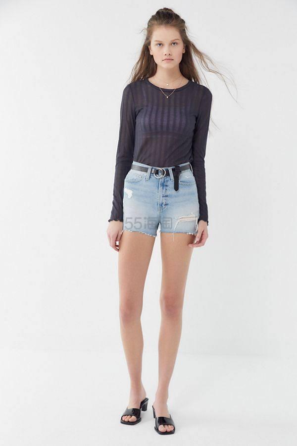 BDG Girlfriend 高腰牛仔破洞短裤 .99(约69元) - 海淘优惠海淘折扣|55海淘网