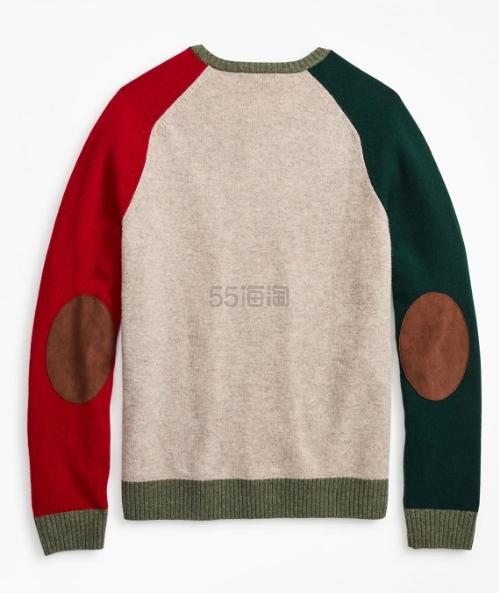 Brooks Brothers 羊羔毛拼色男士毛衣 4.6(约867元) - 海淘优惠海淘折扣|55海淘网
