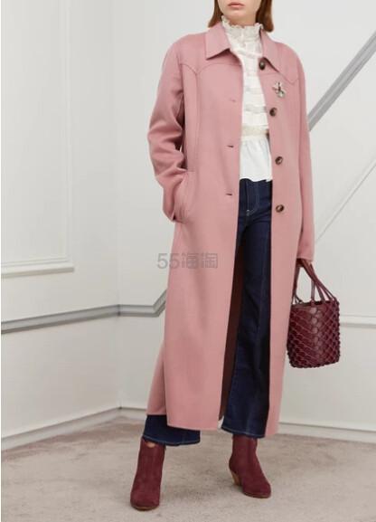 NANUSHKA Sira coat 粉色外套 €626(约4,873元) - 海淘优惠海淘折扣 55海淘网