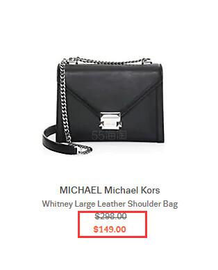 Michael Kors Whitney 链条包 黑色 9(约1,038元) - 海淘优惠海淘折扣|55海淘网