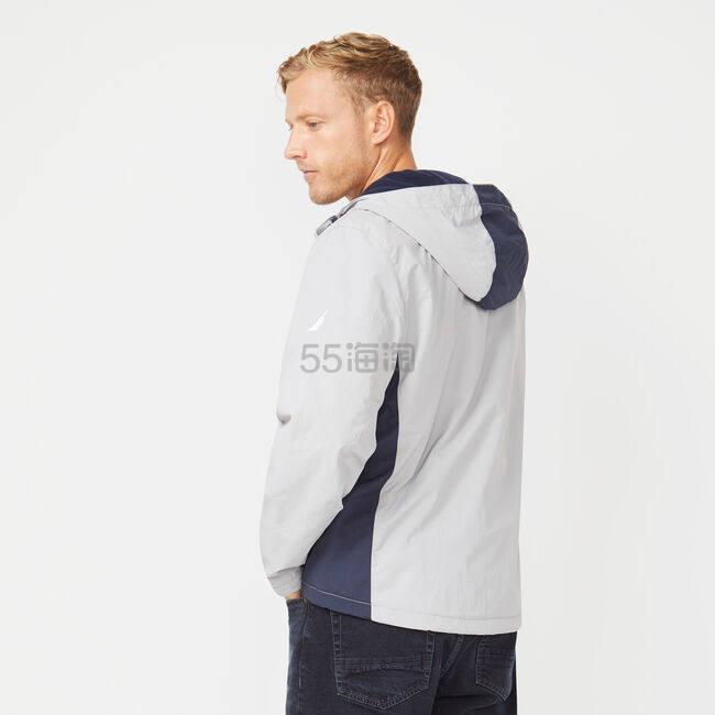 Nautica 连帽拼接夹克外套 .99(约348元) - 海淘优惠海淘折扣|55海淘网