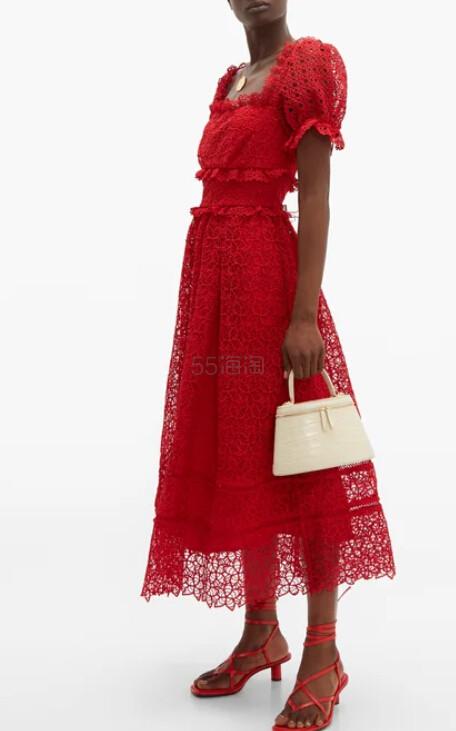 SELF-PORTRAIT Hibiscus 红色连衣裙 €201(约1,573元) - 海淘优惠海淘折扣|55海淘网
