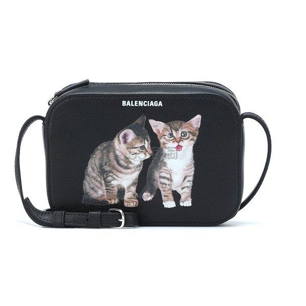 BALENCIAGA Everyday XS 猫咪图案黑色包包