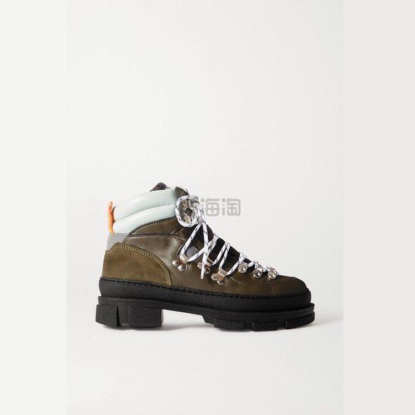 GANNI Sporty Hiking 皮革绒面革踝靴 £300(约2,780元) - 海淘优惠海淘折扣|55海淘网